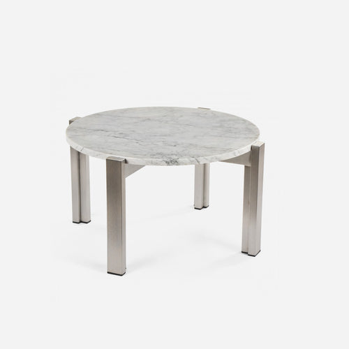 Case Study®Stainless Floating Marble End Table