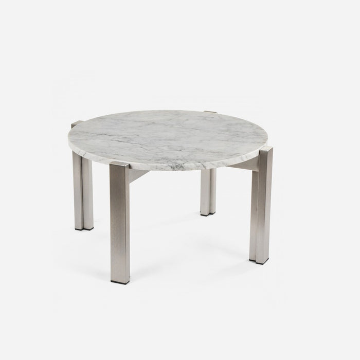 Case Study Furniture® Stainless Floating Marble End Table