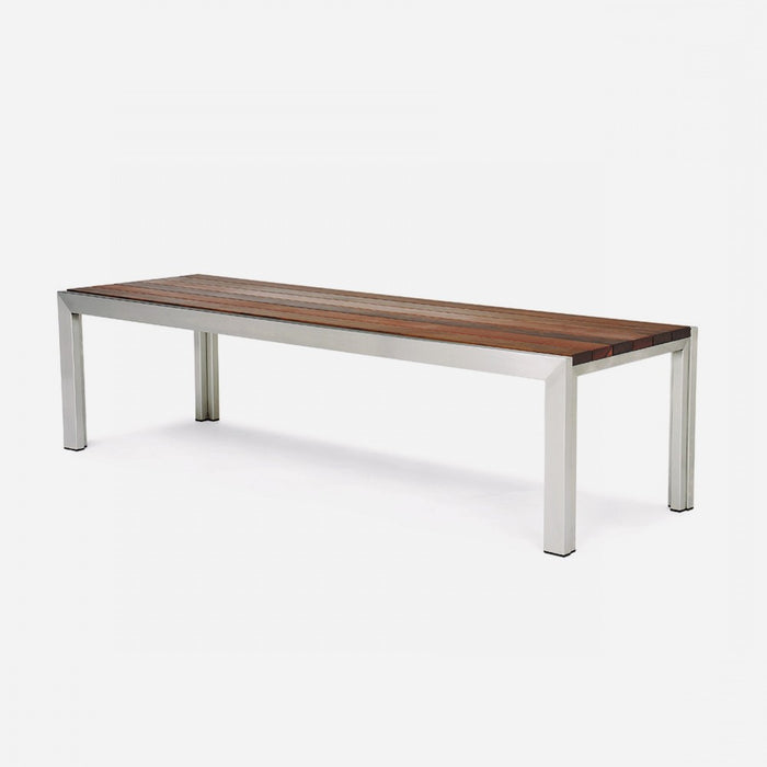 Case Study Furniture® Stainless Bench - Brazilian Walnut