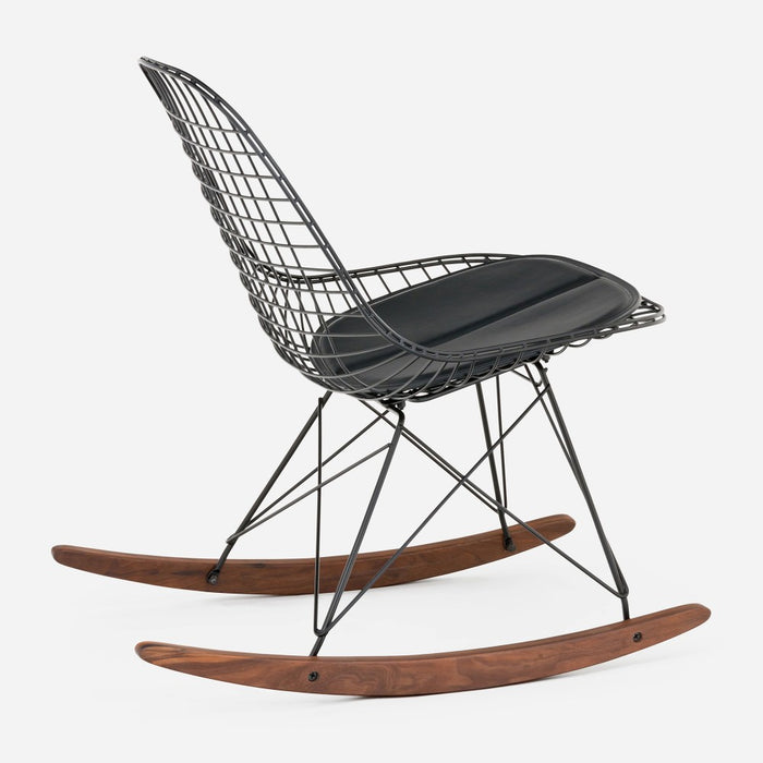 Black Walnut Rocker - Black Wire