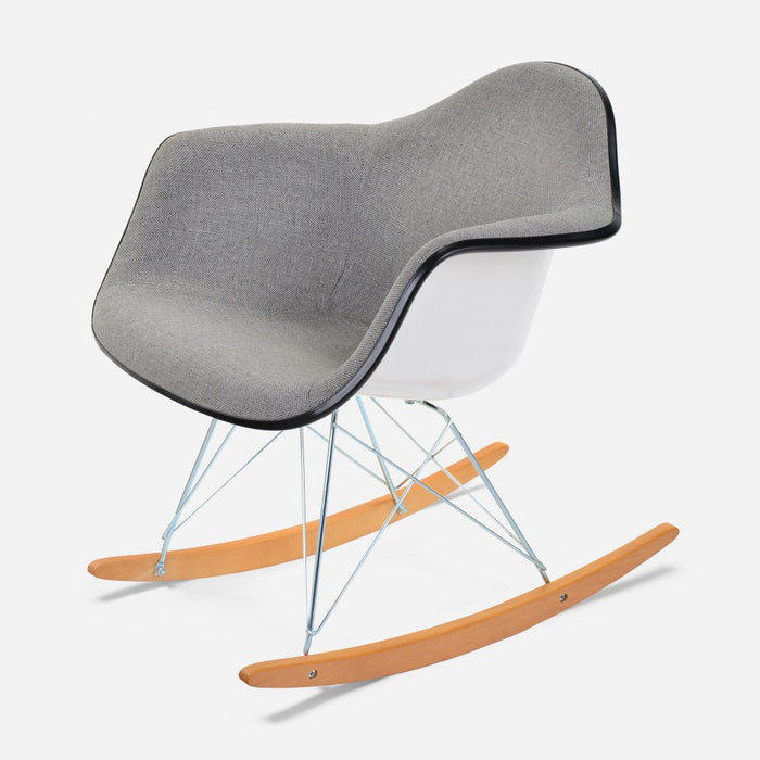 Bon ... Case Study Furniture® Upholstered Arm Shell Rocker
