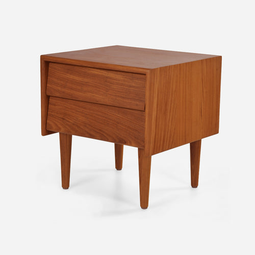 Case Study® Furniture Solid Wood 2 Drawer Bedside Table