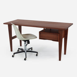 Case Study® Furniture Solid Wood Desk + Side Shell Rolling Bundle