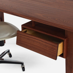 Case Study® Furniture Solid Wood Desk + Side Shell Rolling + Large Ceramic Bundle