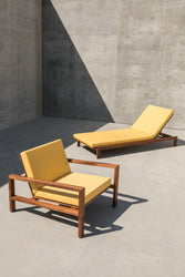 Case Study Furniture® Solid Wood Chaise And Lounge Chair Bundle Pack