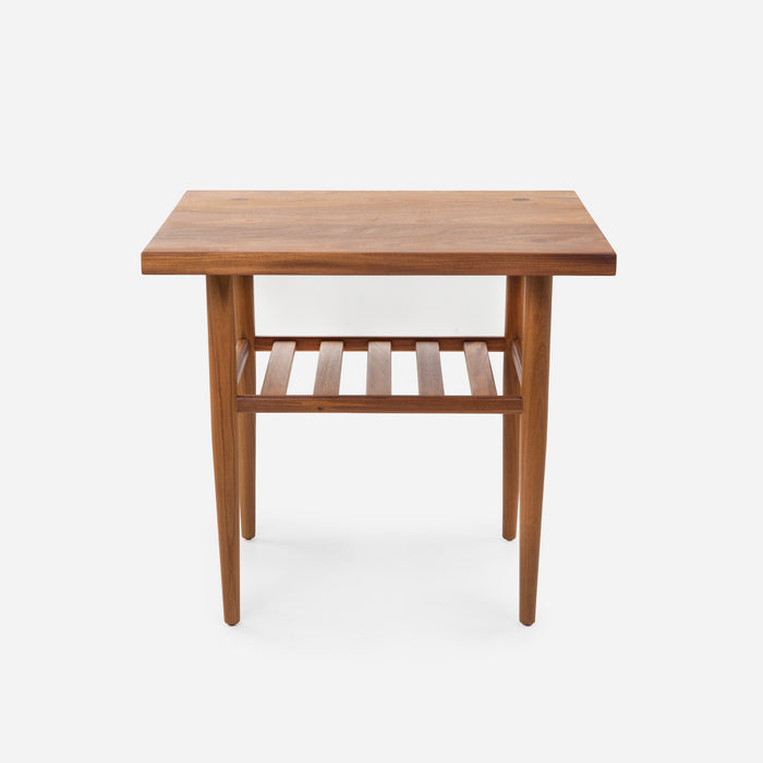 ... Case Study Furniture® Solid Wood End Table With Straight Edge