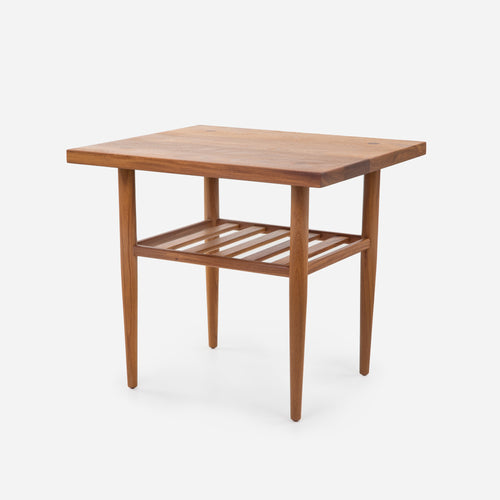 Case Study® Solid Wood End Table with Straight Edge