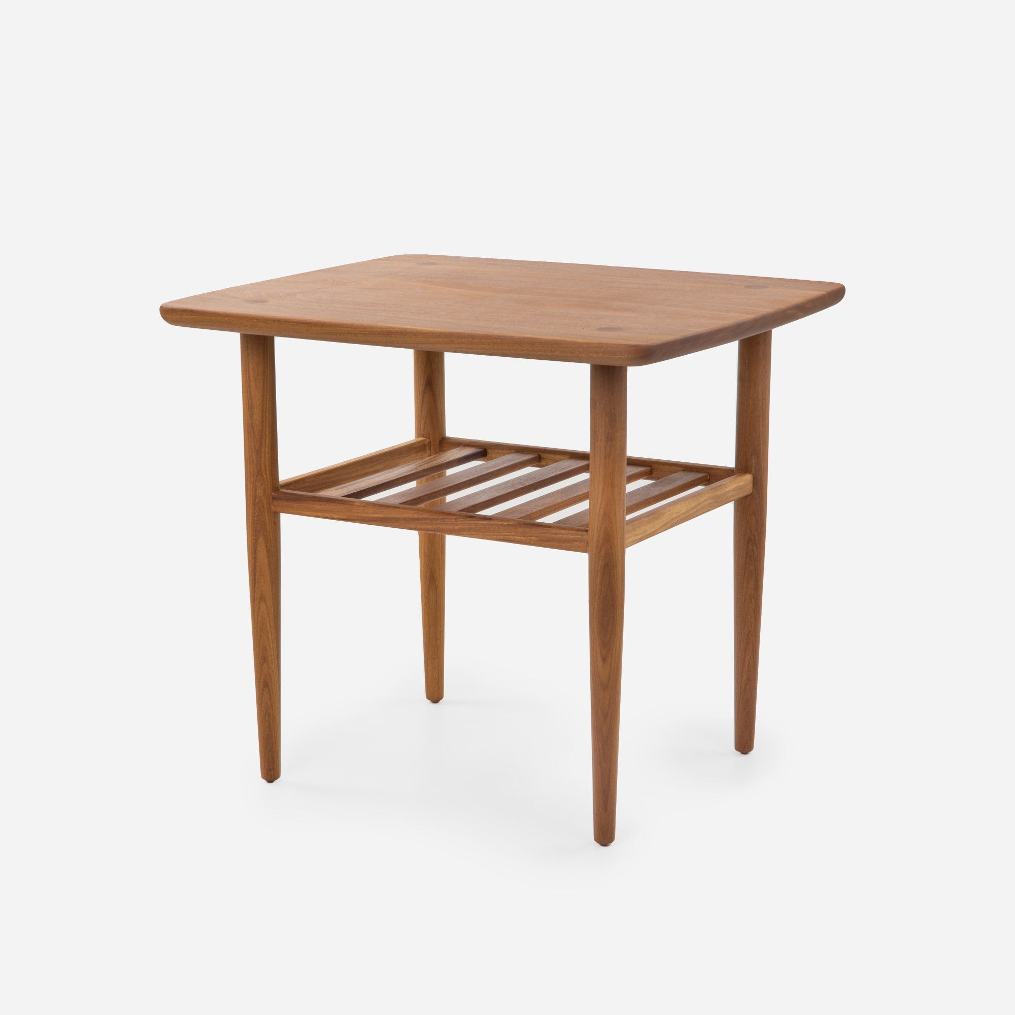 Case study furniture solid wood end table with tapered edge