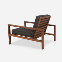 Case Study Furniture® Solid Wood Lounge Chair - Upholstered