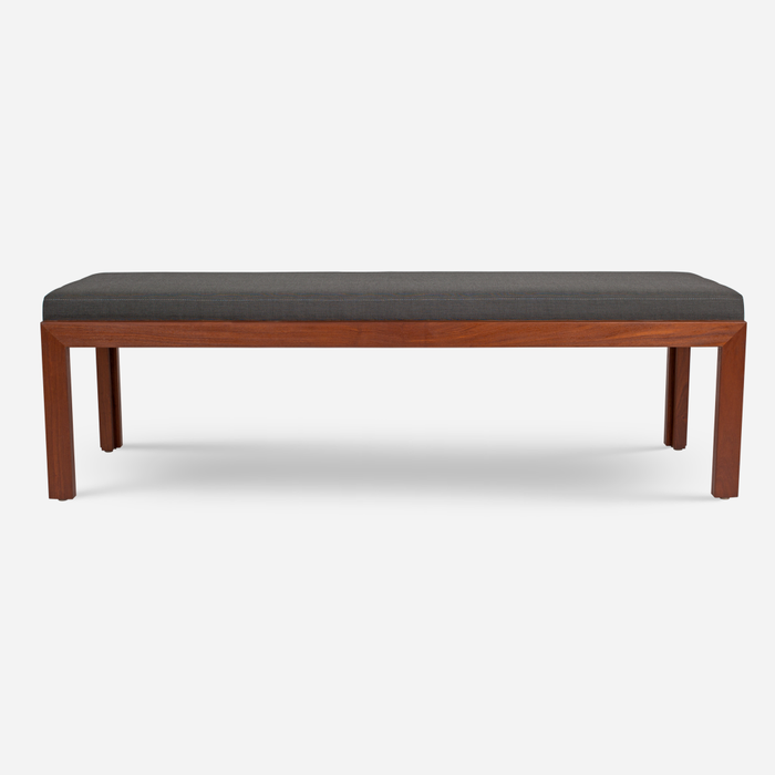 Case Study Furniture® Teak Bench - Upholstered