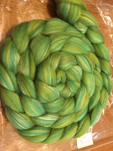 Lime Green wool and silk 4 oz