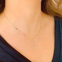 Rosary Cross 18K Gold Vermeil Satellite Necklace