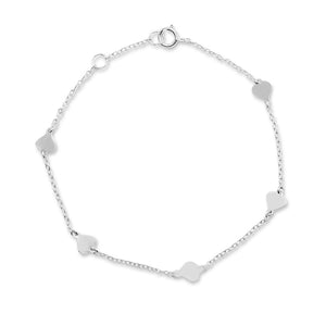 Queen of Hearts Silver Bracelet