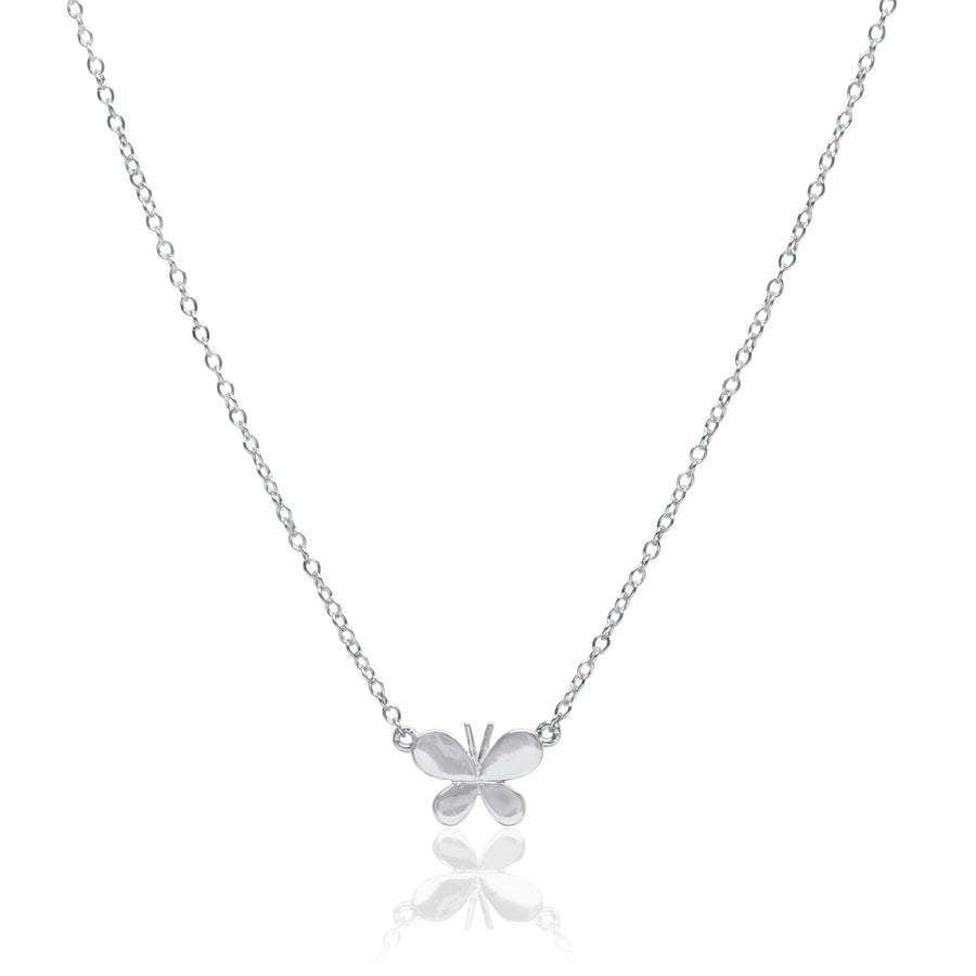 Butterfly Charm Silver Necklace