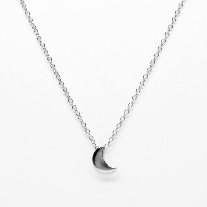BellaBoho Crescent Moon Silver Necklace 58.00