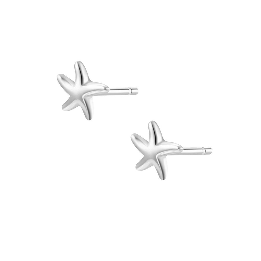 Starfish Studs Silver Earrings