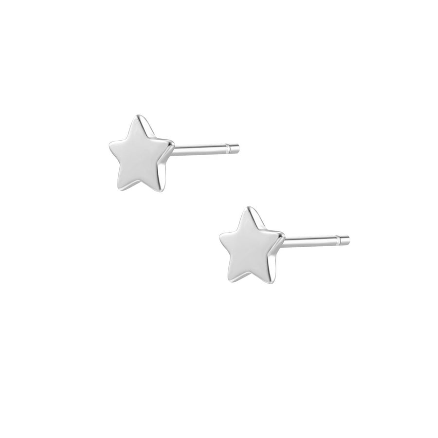 Mini Star Stud Silver Earrings