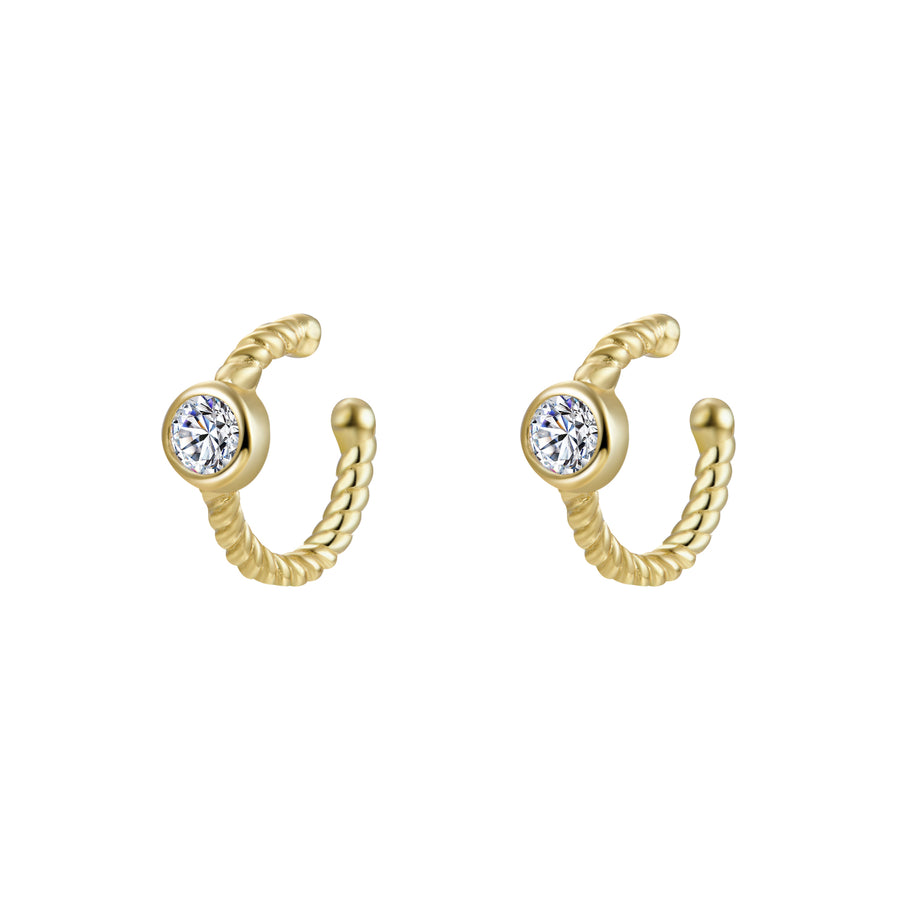 CZ Beaded Cuff Earring