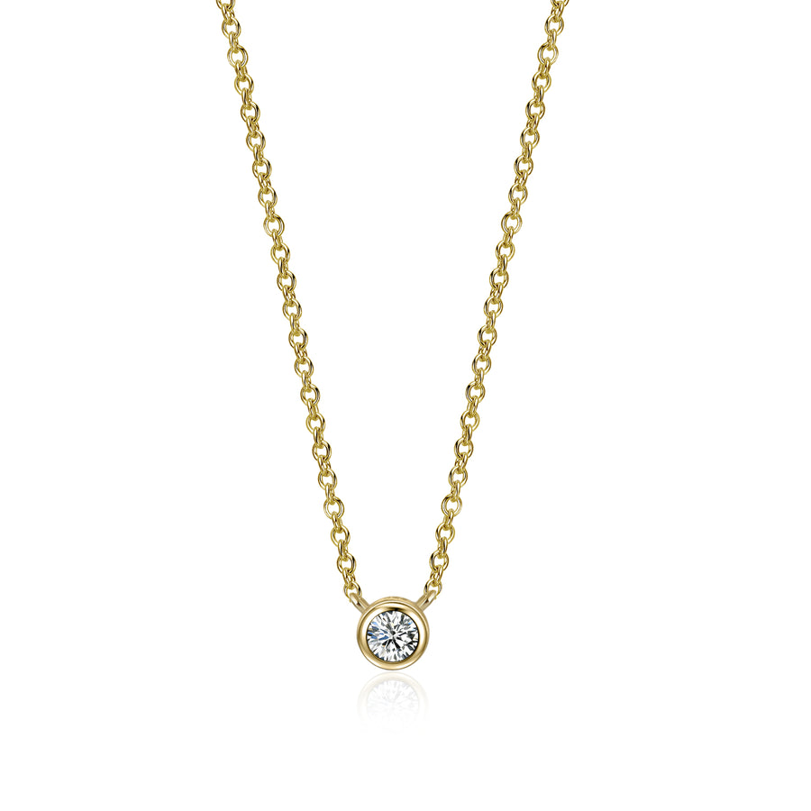 Solitaire Minimalist Seduction Necklace
