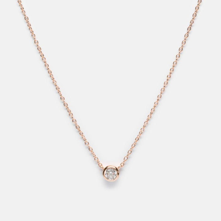 BellaBoho Solitaire Rose Minimalist Seduction Necklace 34.80