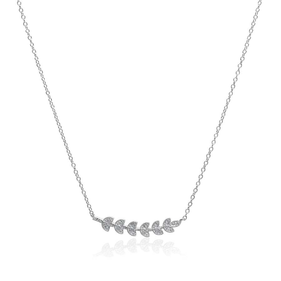 Leaves in the Wind Silver Necklace
