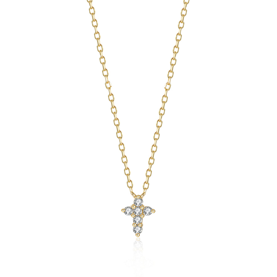 Boho Zirconia Cross Necklace