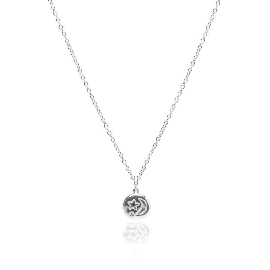 Stellar Crescent Necklace