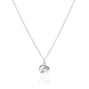Flower Coin Silver Necklace