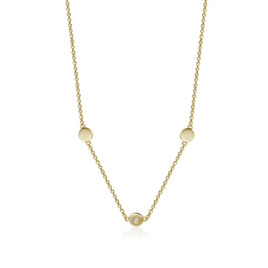 CZ Trio Dot Necklace