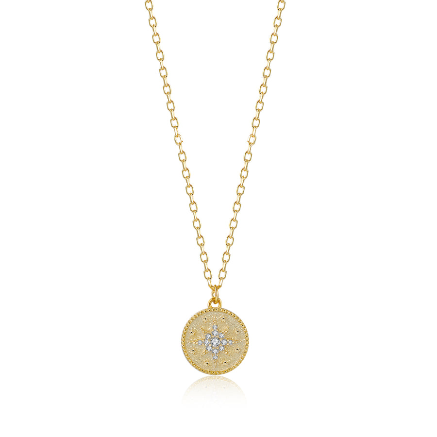 CZ Star Coin Necklace