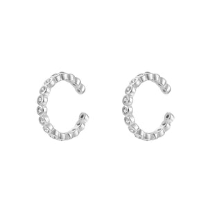 CZ Braided Cuff Earring