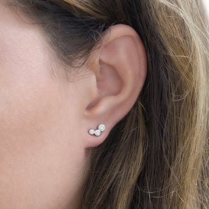 Crawling Stud Silver Earrings