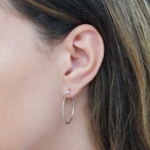 Dreamy Hoop Silver Earrings