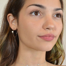 Minimalist Hoop Earrings, Gold