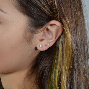Simple Bar Earrings, Gold