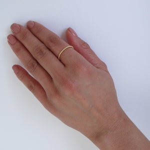 Gold Vermeil Beaded Ring