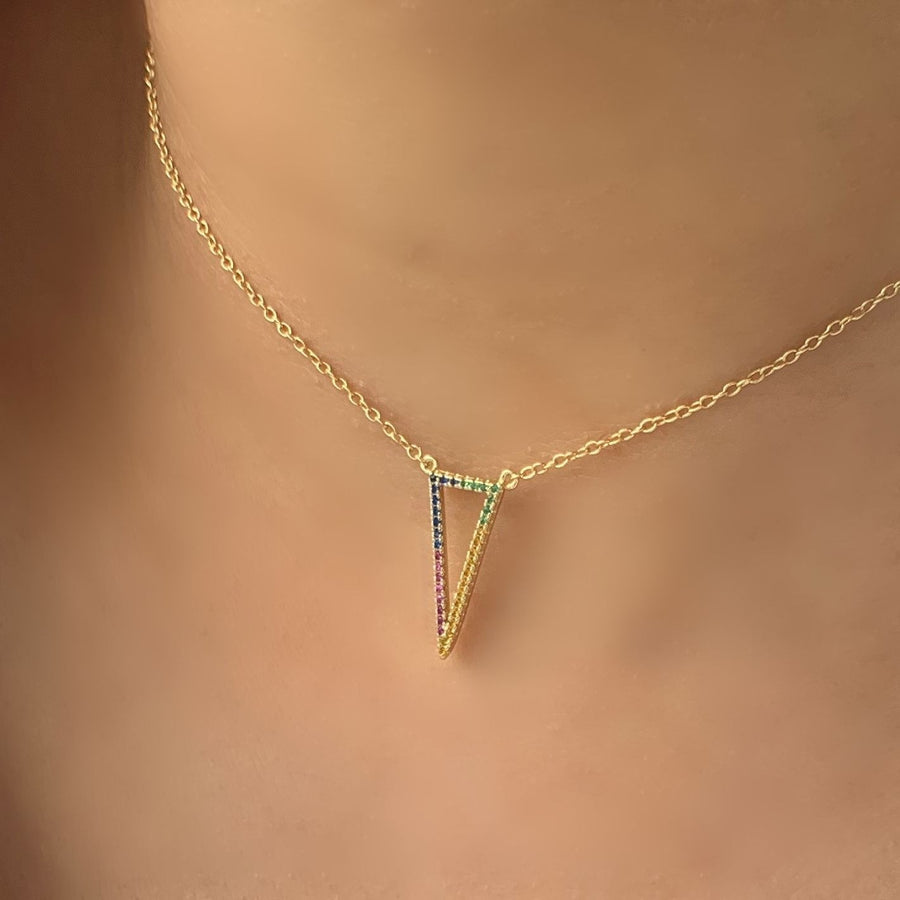 BellaBoho Chevron Rainbow Layering Necklace