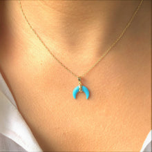 Turquoise Goddess 18K Gold Vermeil Necklace