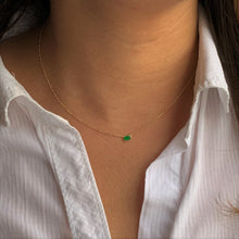 Green Envy Bezel Necklace