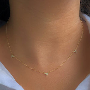 Treble Zirconia Necklace at 58.00
