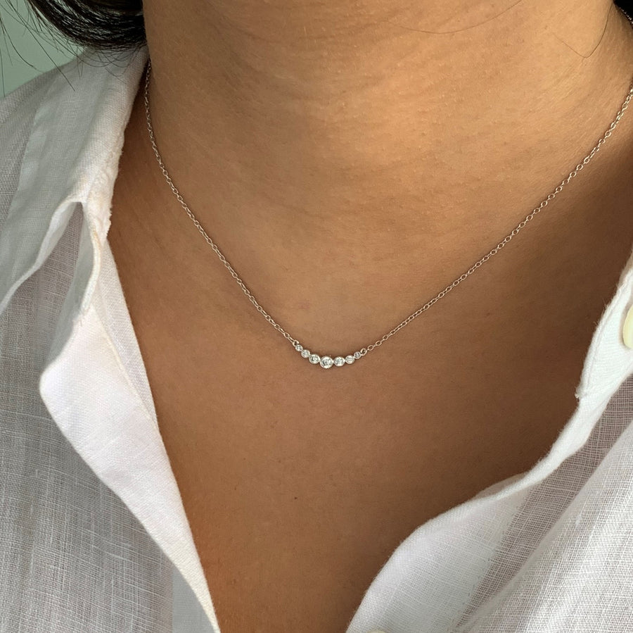 BellaBoho Crystal Drop Silver Necklace