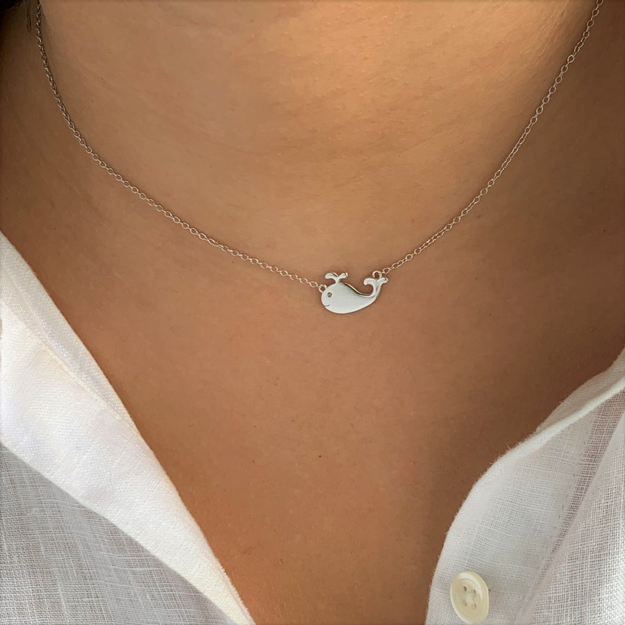 BellaBoho Baby Whale Silver Necklace 58.00