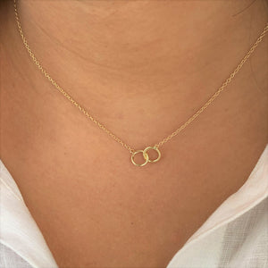 Friendship Circles 18K Gold Vermeil Necklace