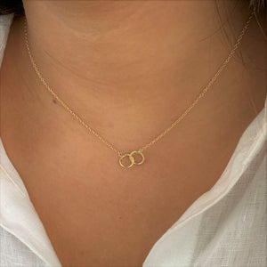 Friendship Circles Necklace, Gold