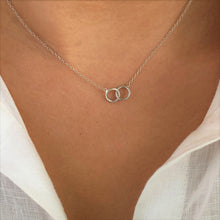Friendship Circles Silver Necklace