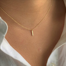 Vertical Bar Necklace, Gold