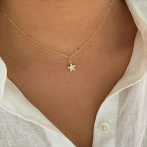 Twinkle Star Necklace, Gold