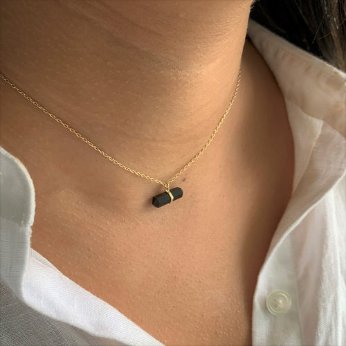 The Black Onyx Crystal Necklace