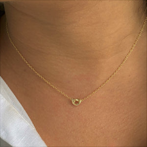 Tie the Knot Necklace, Gold