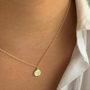 Double Heart 18K Gold Vermeil Necklace